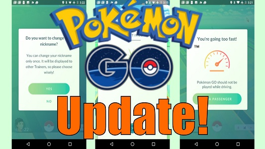 update pokemon go