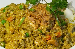VEGGIE NASI GORENG INDONESIAN FRIED RICE 300x199 VEGGIE NASI GORENG (INDONESIAN FRIED RICE)