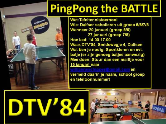 Poster Pingpongbattle