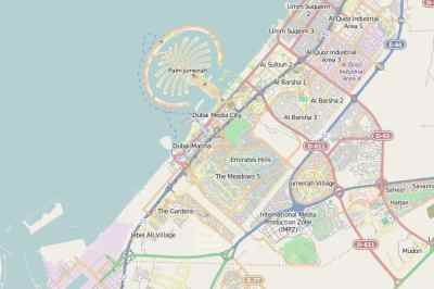 Map of Dubai - Dubai Online