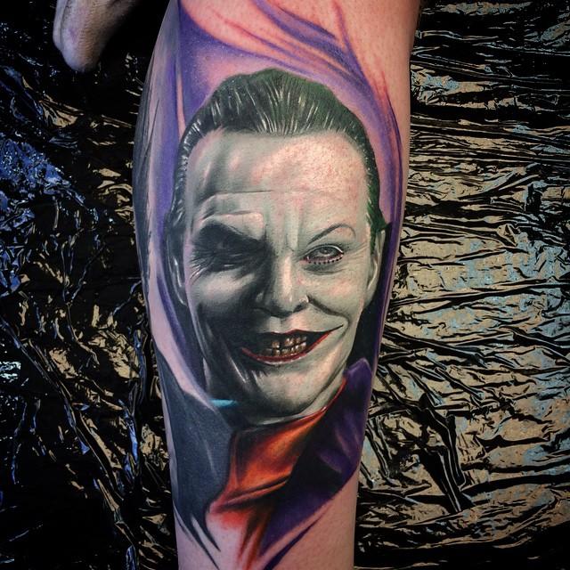 Jack Nicholson Joker Tattoo By Max Pniewski Best Tattoo