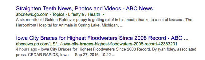 mixed search results