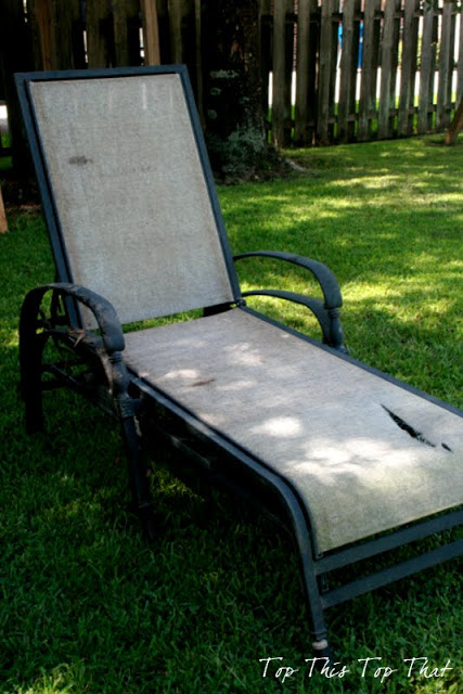 How to refurbish your old Chaise Loungers