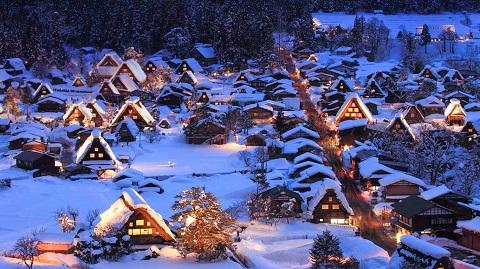 Khu làng cổ Shirakawago phủ tuyết trắng xóa