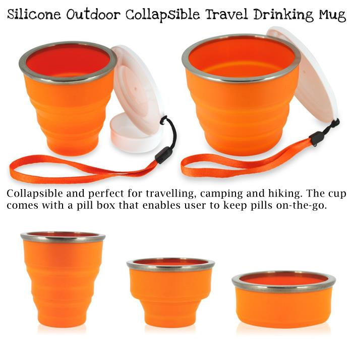Silicone Outdoor Collapsible Travel Drinking Mug
