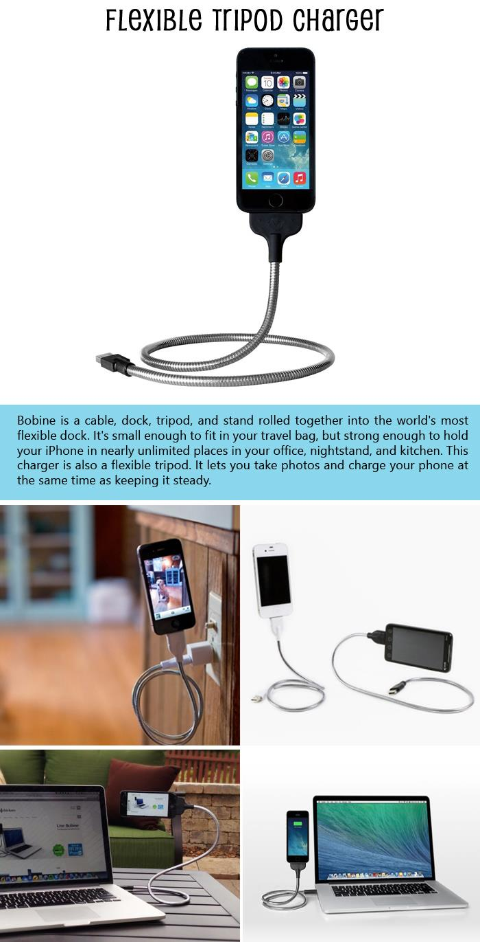 Flexible Tripod Charger