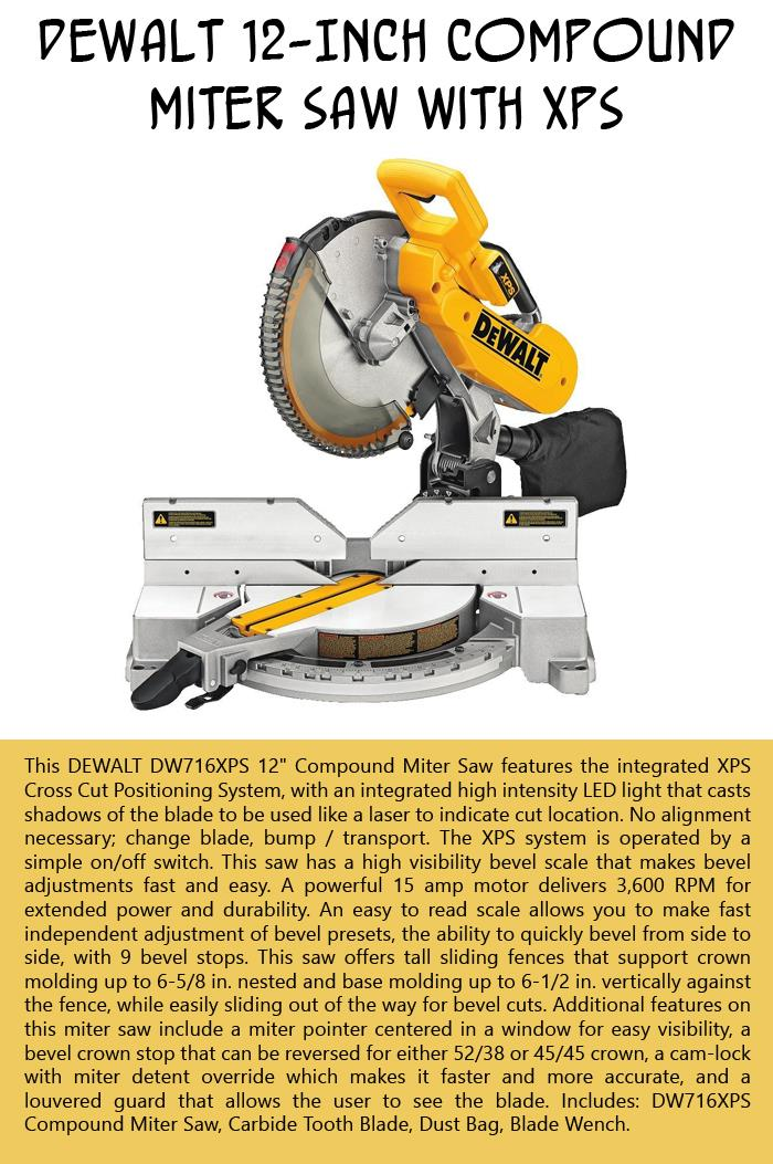 DEWALT Compound Miter Saw with XPS 12-Inch
