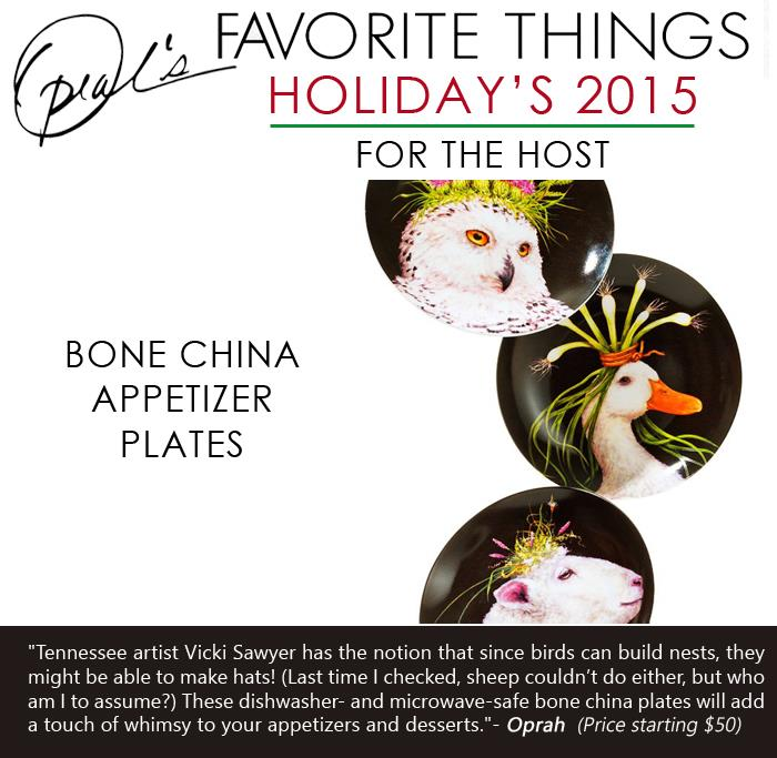 Oprah's Favorite Things - Bone china appetizer plates