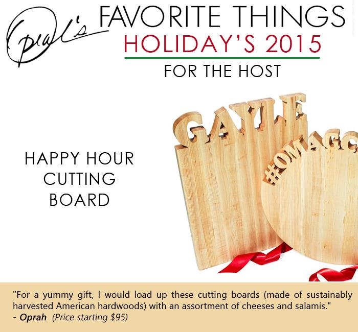 Oprah's Favorite Things - Happy Hour cutting board