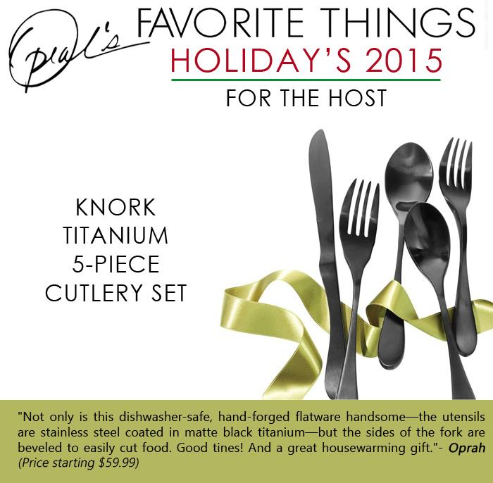 Oprah's Favorite Things - Knork titanium 5-piece cutlery set