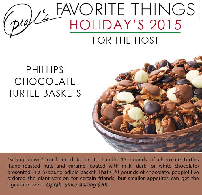 Oprah's Favorite Things - Phillips Chocolate Turtle baskets