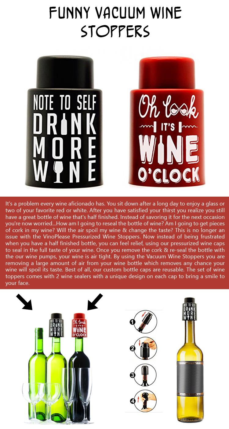 Funny Vacuum Wine Stoppers