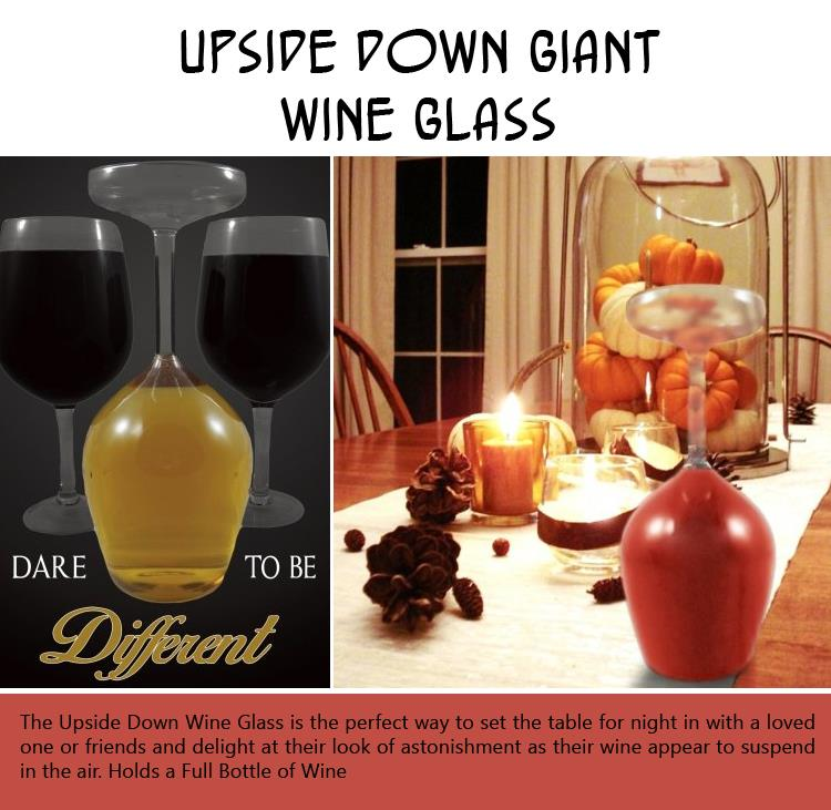Upside Down Giant Wine Glass