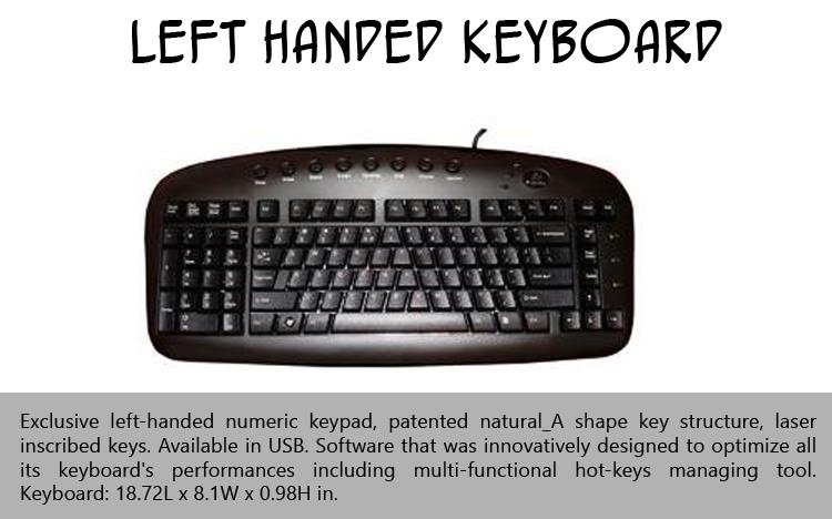 Left Handed Keyboard