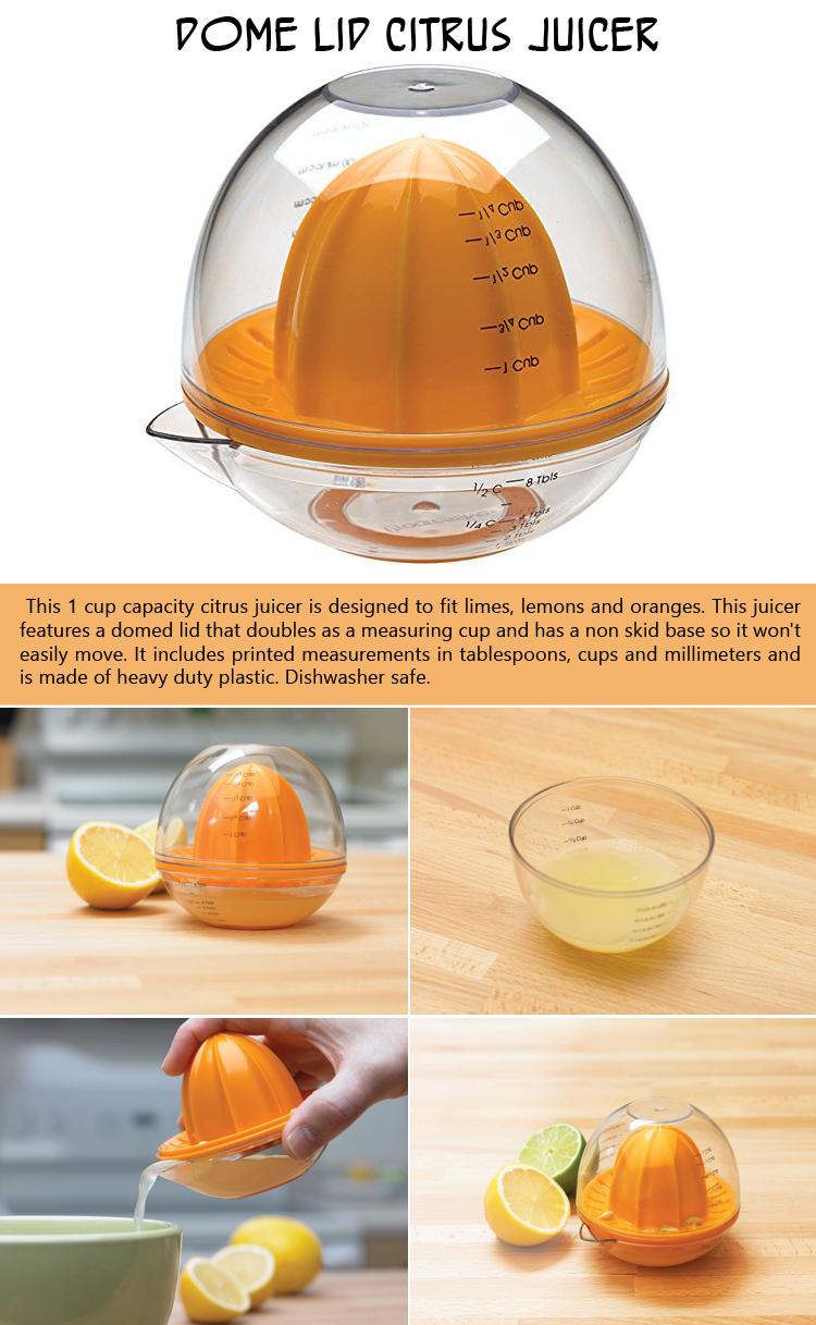 Dome Lid Citrus Juicer