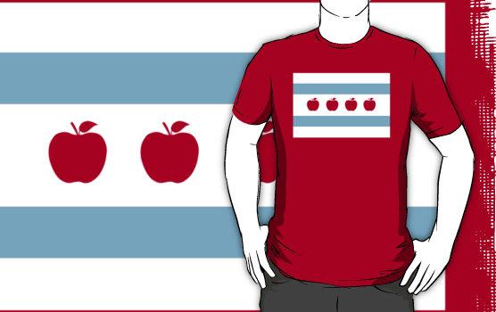 Chicago Teacher Flag tee