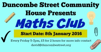 Maths Club – Organised By Duncombe Street Community House