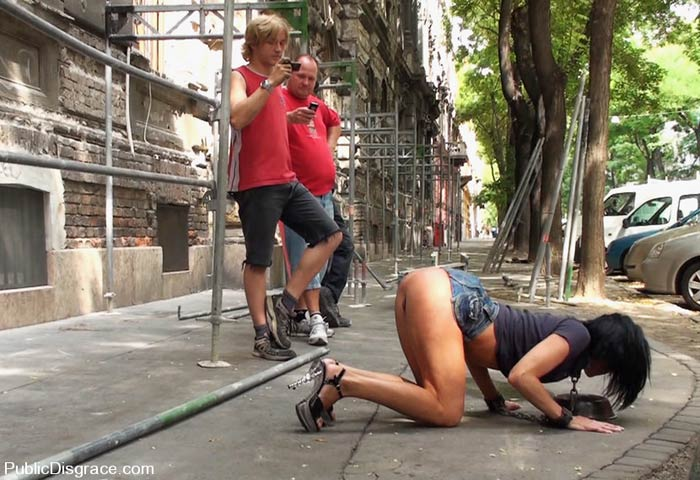 tie up forced to fuck in public