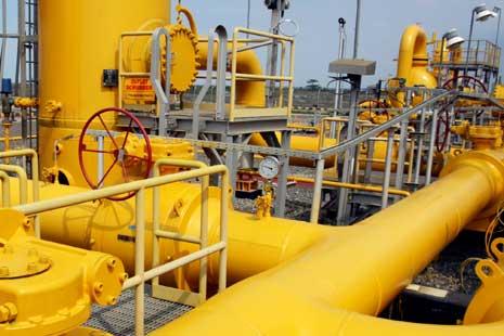Jaringan distribusi gas di Indonesia.