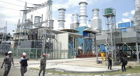 Pembangkit listrik tenaga gas PLN.
