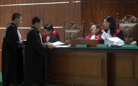 Sidang kasus bioremediasi di Pengadilan Tipikor.