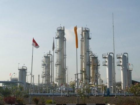 Salah satu fasilitas produksi migas Pertamina.
