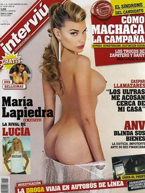 portada interviu Triángulo amoroso con Maria Lapiedra y Irina Vega
