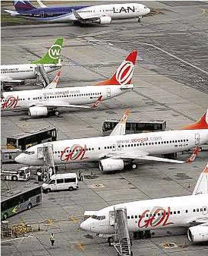 De olho no interior. Aviões da Gol em Guarulhos: empresa quer se expandir