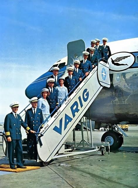 Tripulação da Varig para mais um voo (Arquivo/Varig)