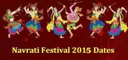 Navratri Dates 2015