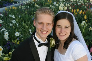 Amber and me on our wedding day