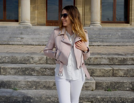 JOURNEE DE LA FEMME 2017 MARS LOOK PRINTEMPS GIRLY PERFECTO ROSE ZARA SUPERSTARS ADIDAS LOOK TOTAL WHITE FASHION BLOG MODE BLOGUEUSE BORDEAUX CORSE 23