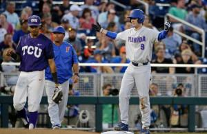 COURTESY PHOTO FROM UAA COMMUNICATIONS.  St. Augustine resident and former Bolles player Christian Hicks came up huge for the Gators Saturday sending the Gators into the Championship Series against LSU.