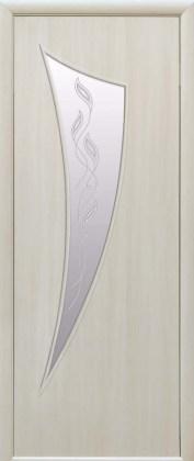 Двери Парус Новый Стиль дуб жемчужный со стеклом Р3
