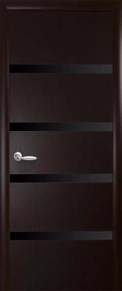 Двери Нота Новый Стиль венге dewild с черным стеклом
