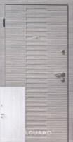 Двери Vesta Steelguard серого цвета и белые внутри