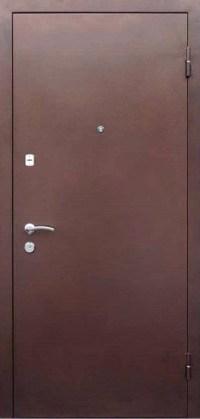 Металлическая двухлистовая дверь