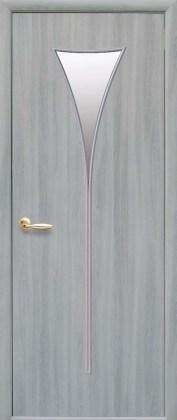 Двери Бора Новый Стиль ясень патина со стеклом