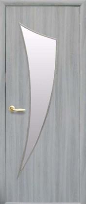 Двери Парус Новый Стиль ясень патина со стеклом сатин