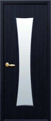 Двери Часы Новый Стиль венге 3D со стеклом сатин