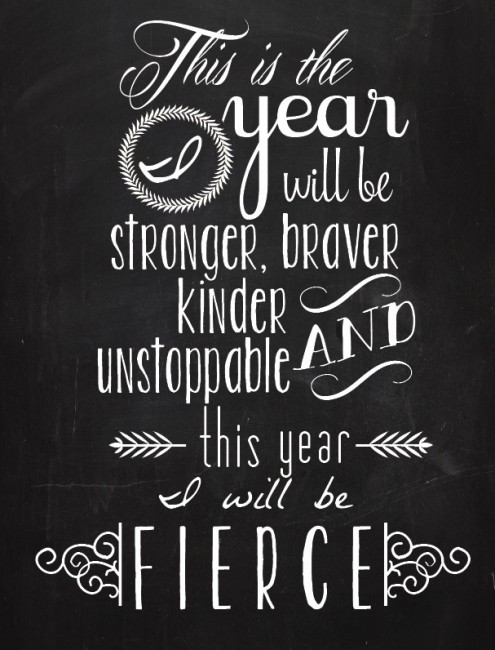 Free Fierce Printable Quote