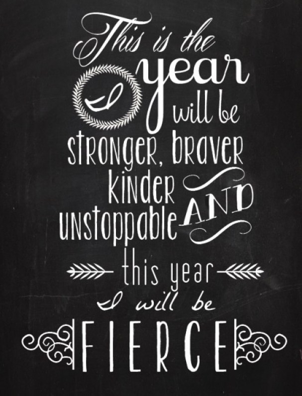 This is the year I will be stronger, braver, kinder, and unstoppable // Quotes about self-love (DwellBeautiful via the PumpUp Blog)