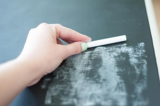 chalkboard desk makever
