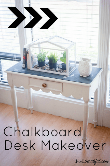 chalkboard desk makeover