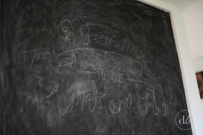 "<a href=""http://www.amazon.com/gp/product/B0006BAEI6/ref=as_li_tl?ie=UTF8&camp=1789&creative=9325&creativeASIN=B0006BAEI6&linkCode=as2&tag=dwellbeaut0e-20&linkId=SUGNMNNUY775LJX4"">Rust-Oleum Chalkboard Paint</a><img src=""http://ir-na.amazon-adsystem.com/e/ir?t=dwellbeaut0e-20&l=as2&o=1&a=B0006BAEI6"" width=""1"" height=""1"" border=""0"" alt="""" style=""border:none !important; margin:0px !important;"" />"