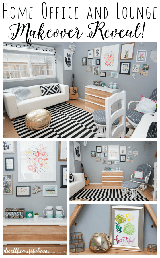 Lounge and Home Office Makeover Reveal!