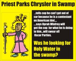 Priest parks Chrysler in swamp