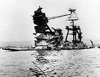 USS Arizona after attack