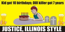 Kid got 10 birthdays, killer got 7 years
