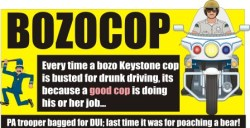 BOZOCOP PA trooper busted for DUI